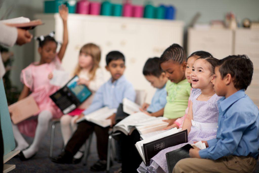 Children in a religious program