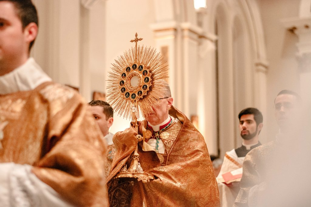 Priest Processing with the Monstrance